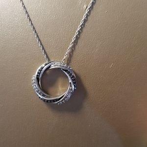 Jewelry - Black and white Diamond necklace